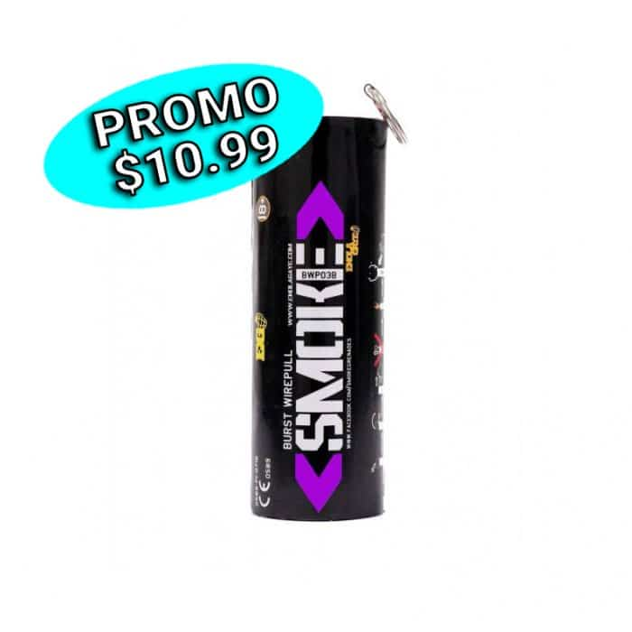 Grenade fumigène intense (mauve)