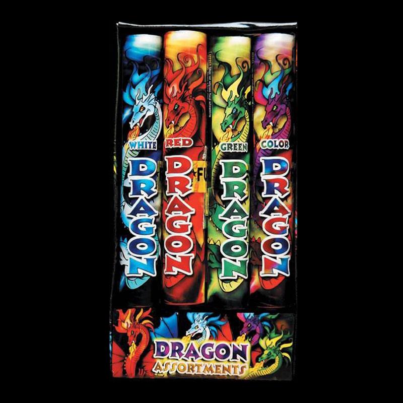 Ensemble de feux d'artifice 4 Dragons