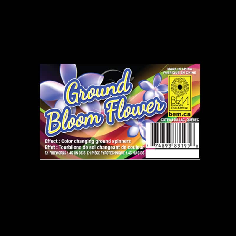 Ground bloom flower fireworks