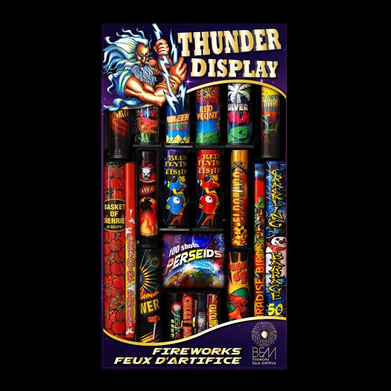 Un emballage de feux d'artifce Thunder Display