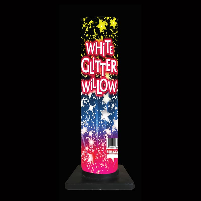 White Glitter Willow
