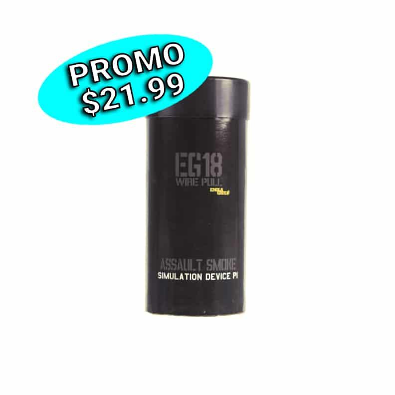 Grenade fumigène EG18 (noire)