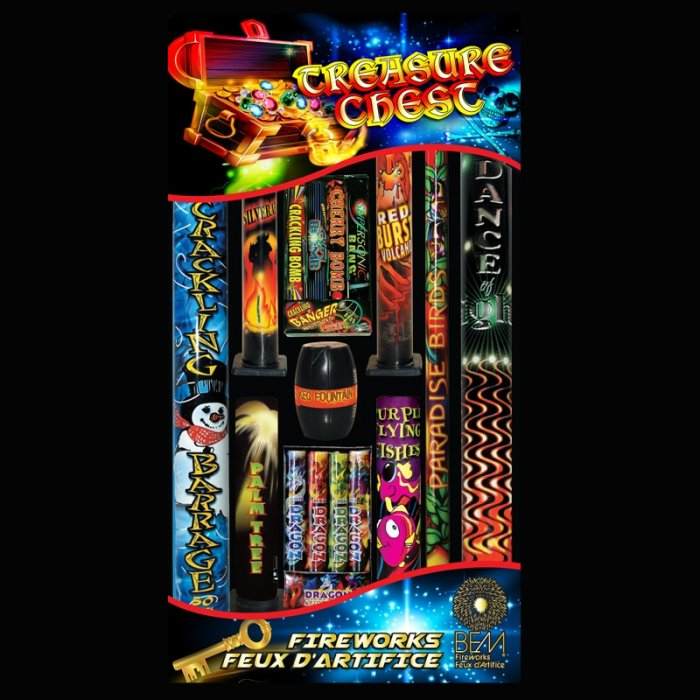 Assortiment de feux d'artifice Treasure Chest
