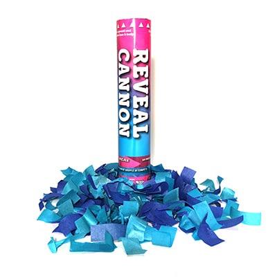 Bomb de confetti bleue