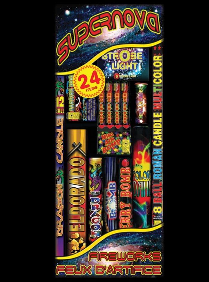 Assorted fireworks kit Supernova